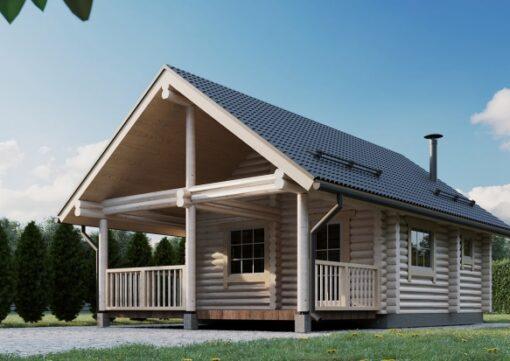 Dvoupodlažní sauna Tiit